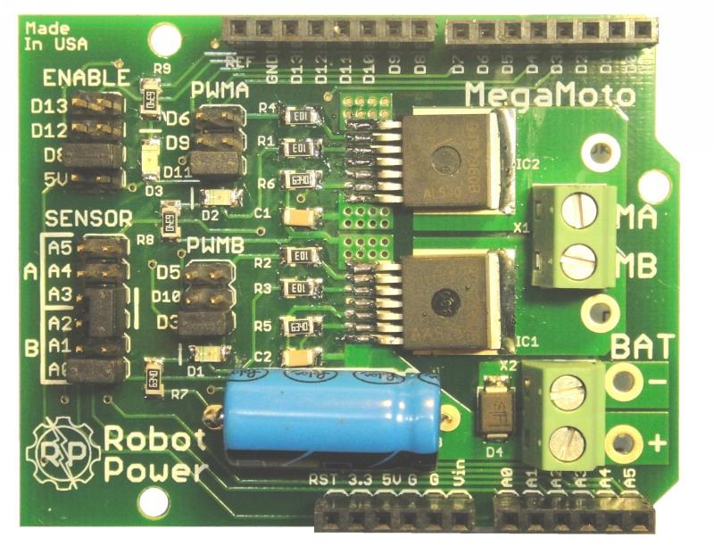 Megamoto 30a Motor Control Shield For Arduino